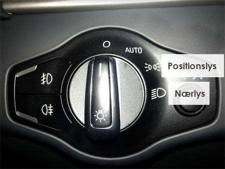 lys symboler bil